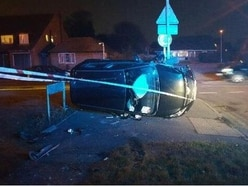 Suspected drink-driver arrested after car crashes in front of Wednesfield police