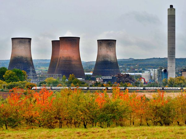 Rugeley Power Station in autumn colours. Photo: Steve Leath