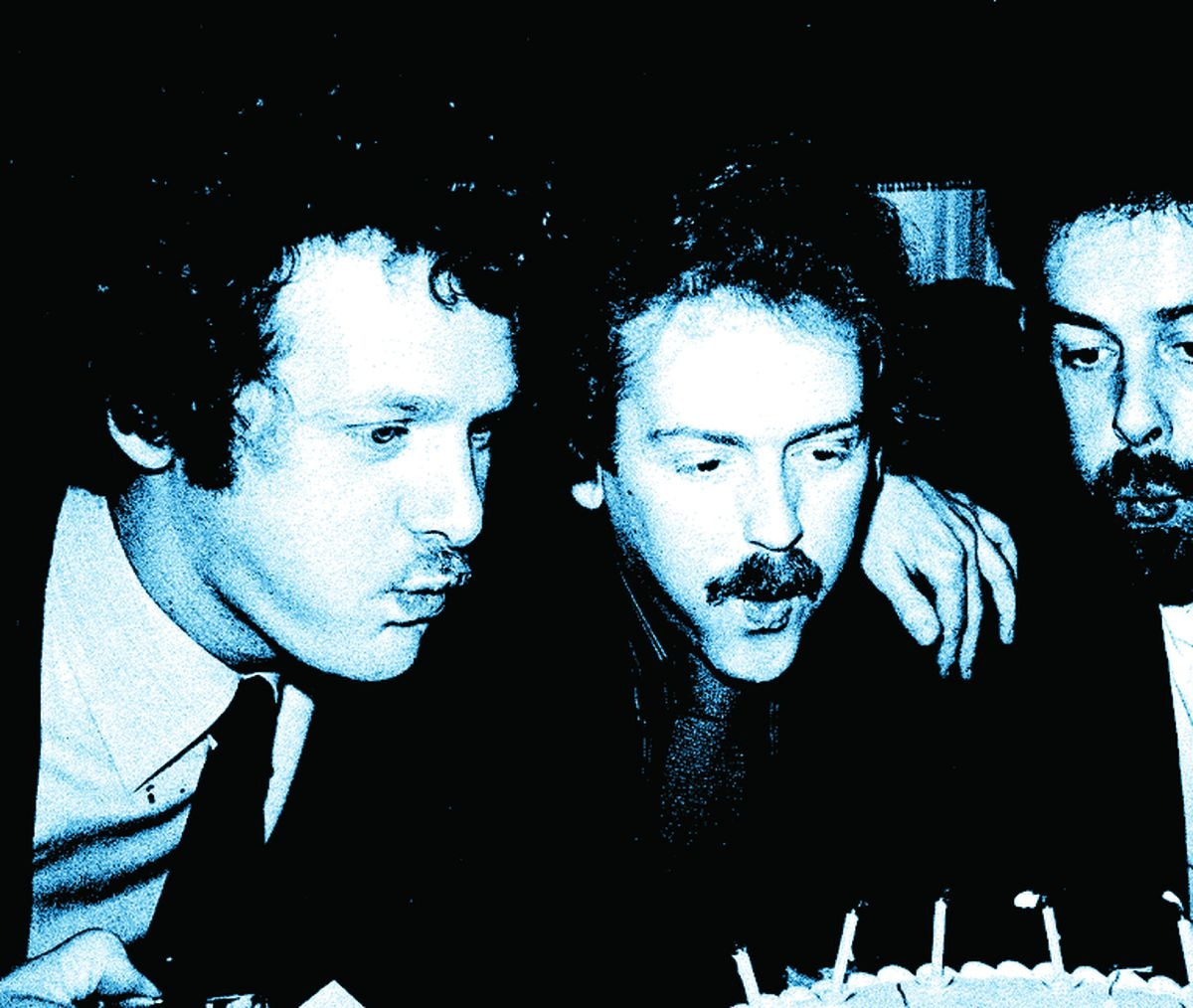 The founder members of the Campaign for Real Ale celebrating the group's 10th birthday in 1981: Jim Makin, Bill Mellor, Michael Hardman MBE, Graham Lees
