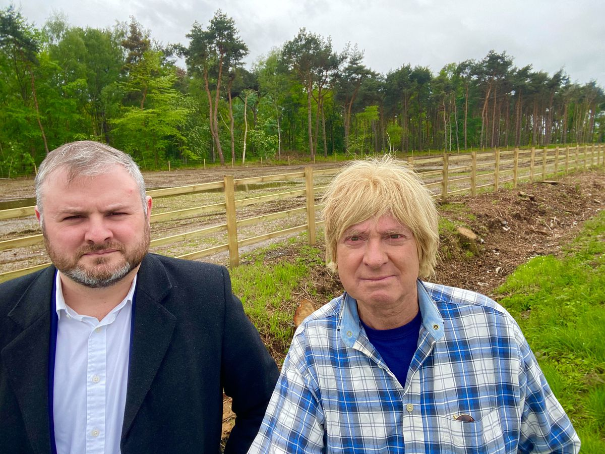 HS2 Minister Andrew Stephenson (left) with Lichfield MP Michael Fabricant