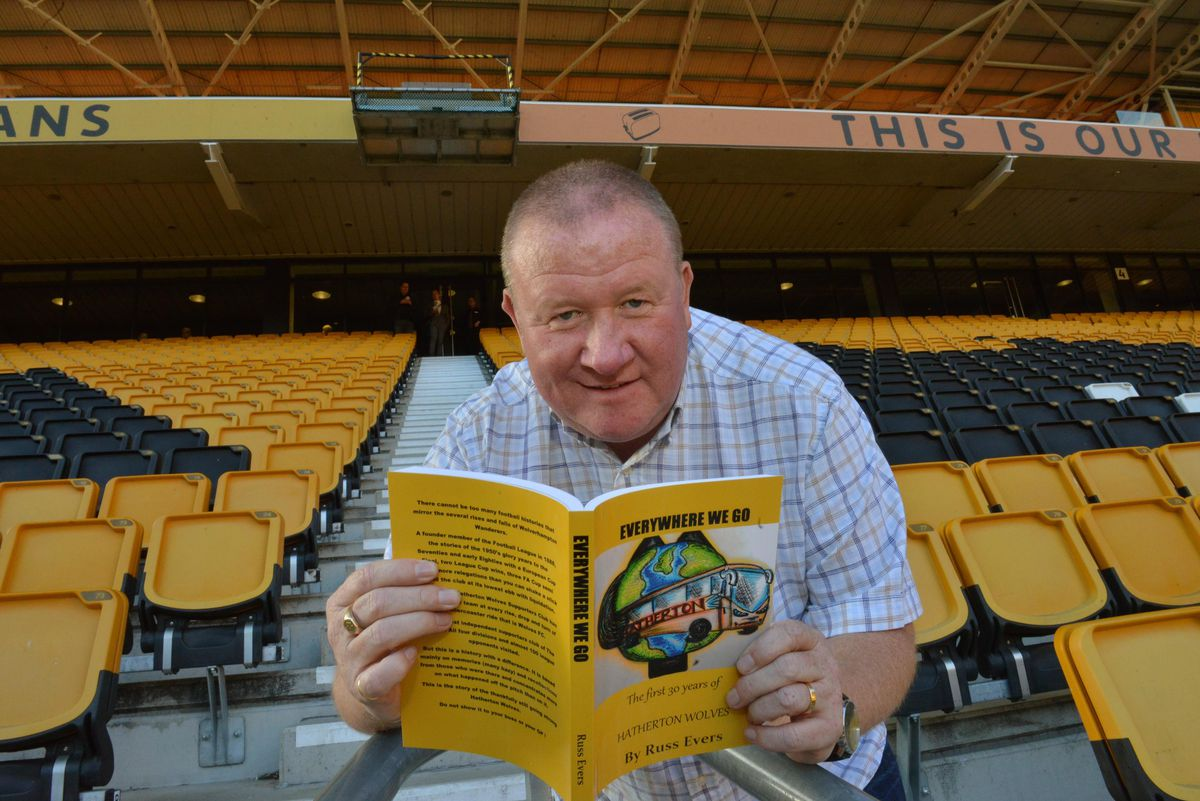 Russ Evers in the Stan Cullis stand, where he sits to watch home matches