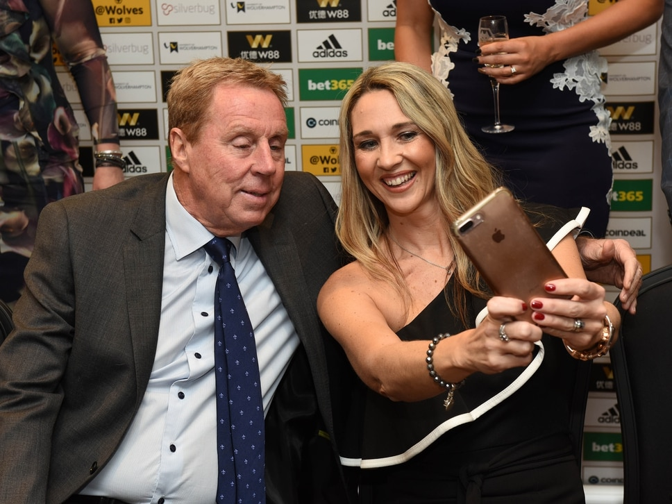 Harry Redknapp poses for selfies with fans at Molineux event