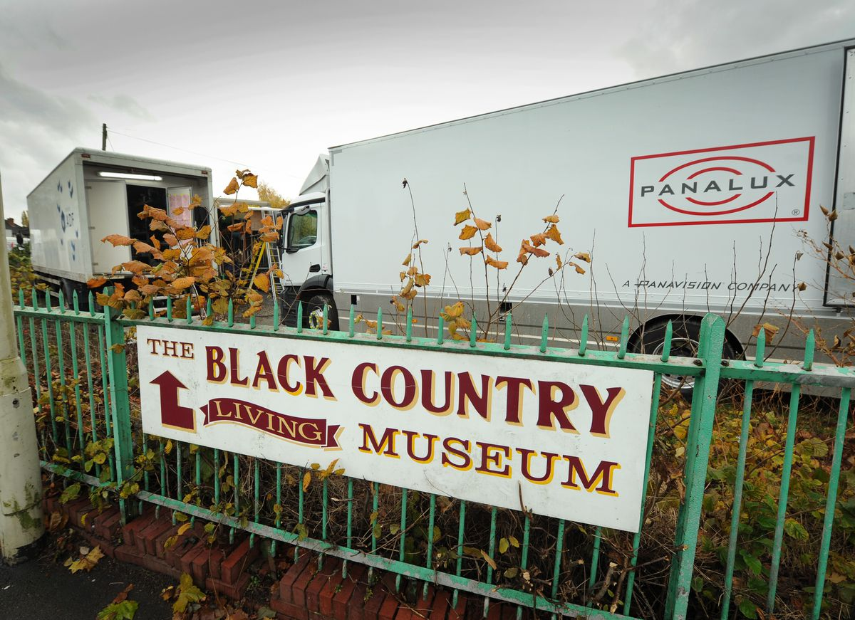 Trailers belonging to the crew at the Black Country Living Museum