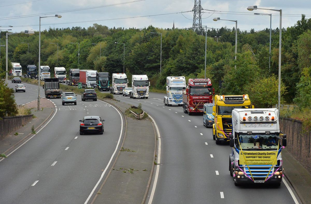 The convoy travelled through the Black Country