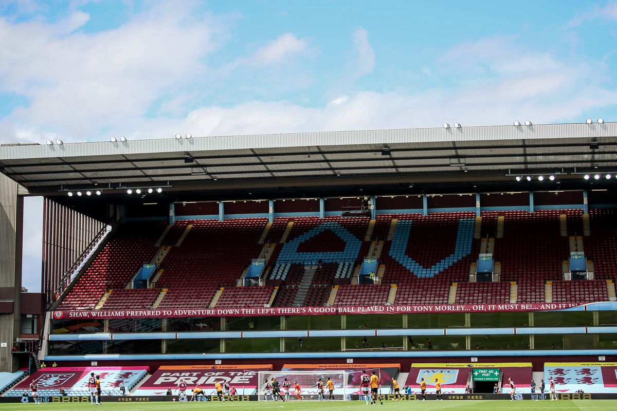 A general view of match action at an empty Villa Park (AMA)