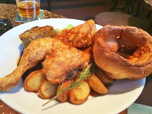 Let's do lunch – what's more British than a Sunday roast? And this one is a champion