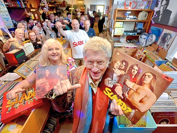 Take Me Bak 'Ome: Noddy's back in town to open record shop - with VIDEO and PICTURES