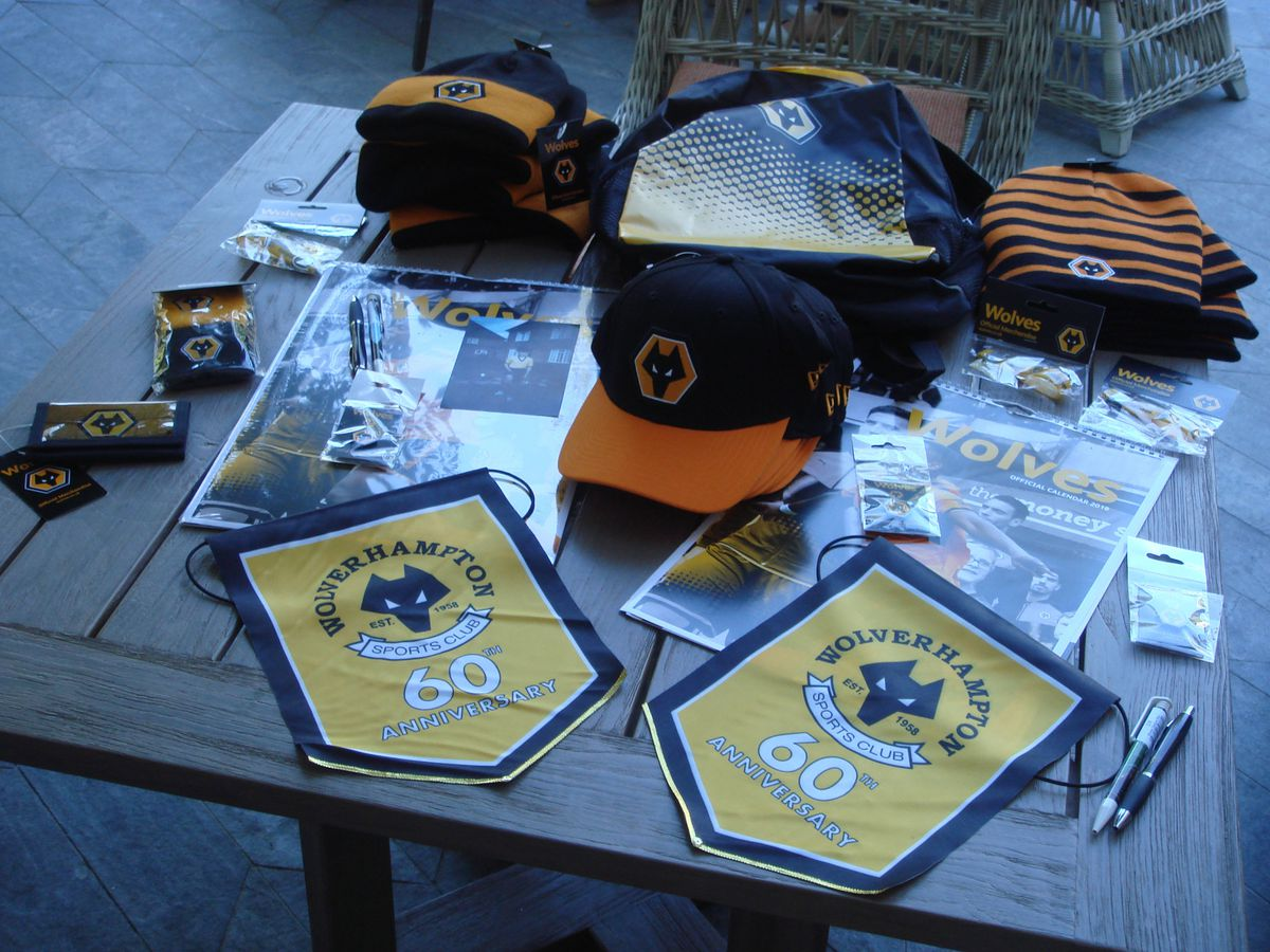 Wolves merchandise given to the club in South Africa