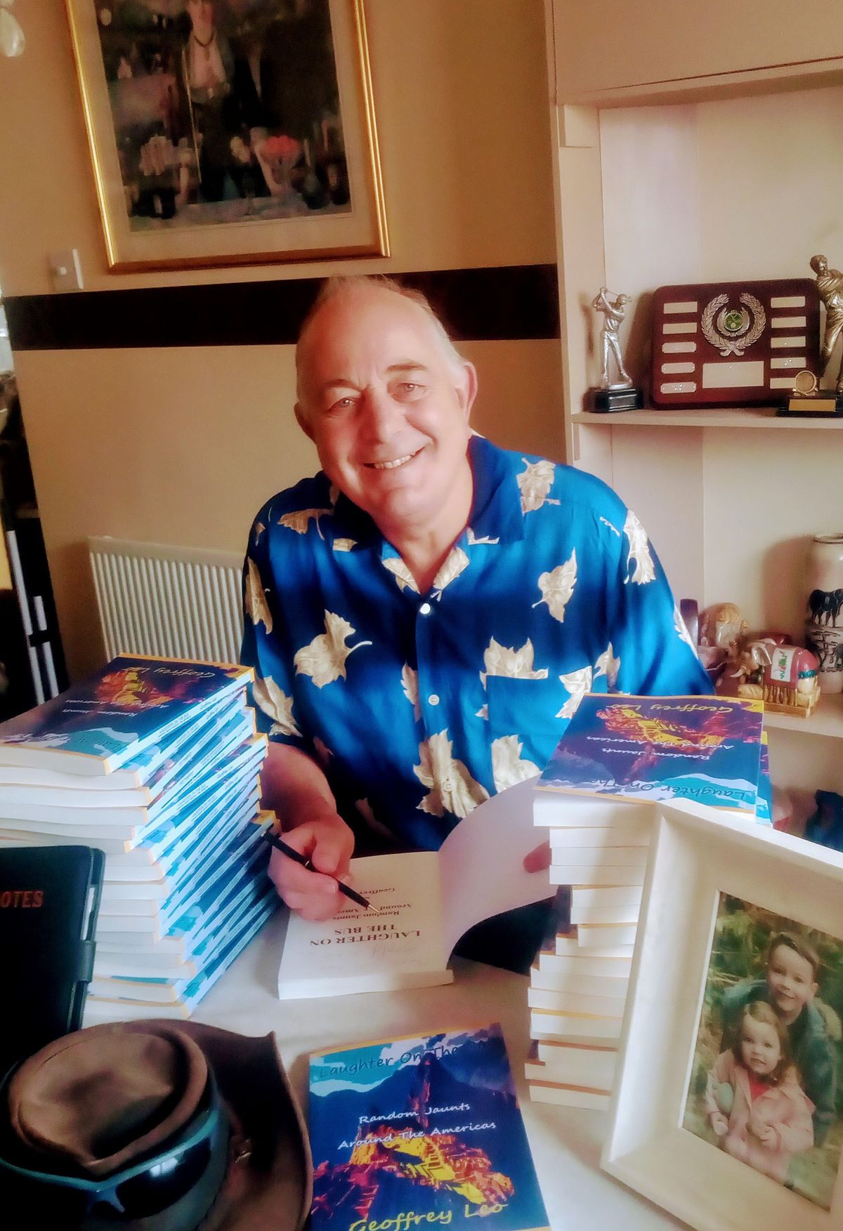 Geoff with his books