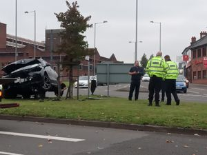 The crash in Cannock. Photo: Richard Pursehouse