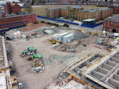 Scale of Wolverhampton's Royal Hospital development shown in aerial photograph