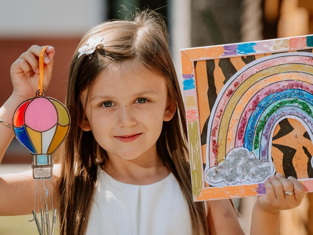 Six-year-old raises £255 for NHS through arts and crafts