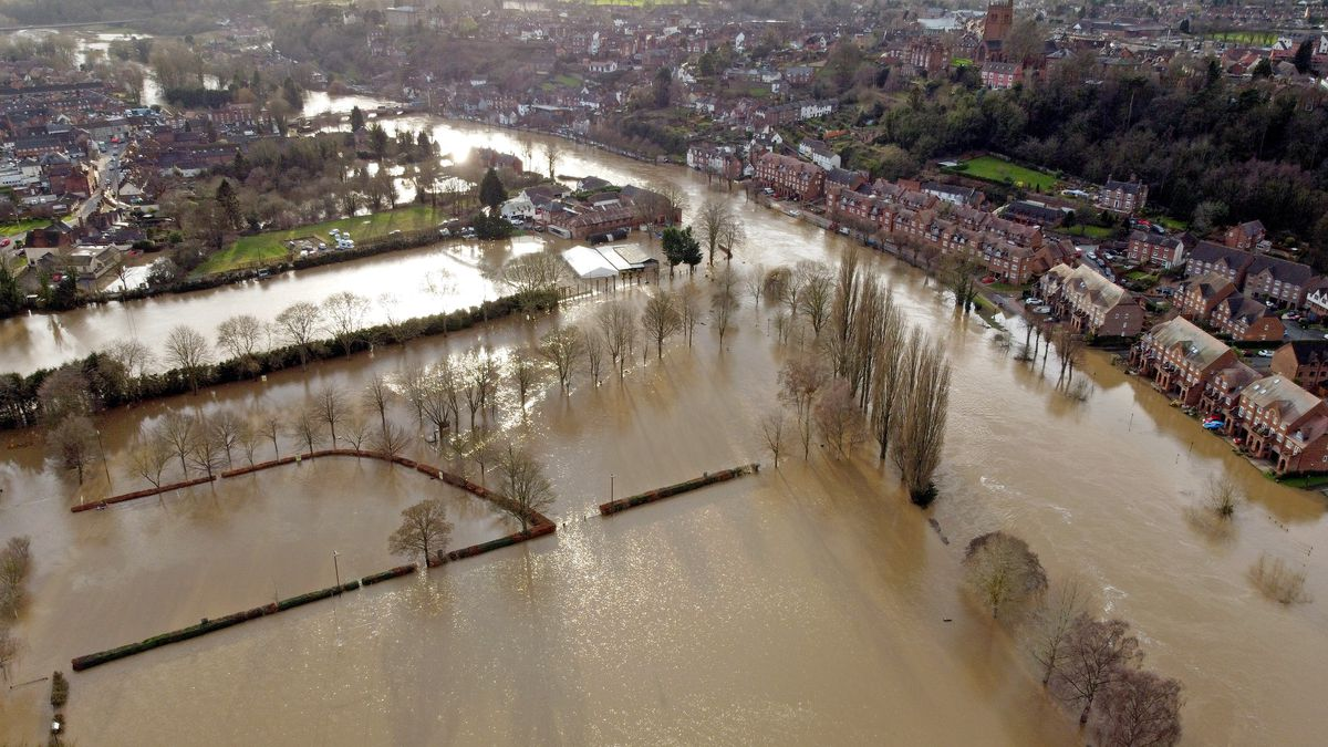 Flooding along the River Severn in Bridgnorth
