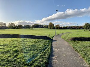 Soil bunding has been put down on the Walsall side of Coppice Farm in Willenhall to stop travellers driving onto the site. PIC: Adam Hicken