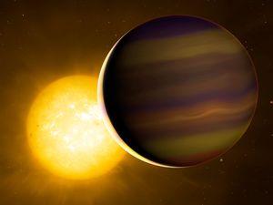 Artist impression of HD 209458b exoplanet