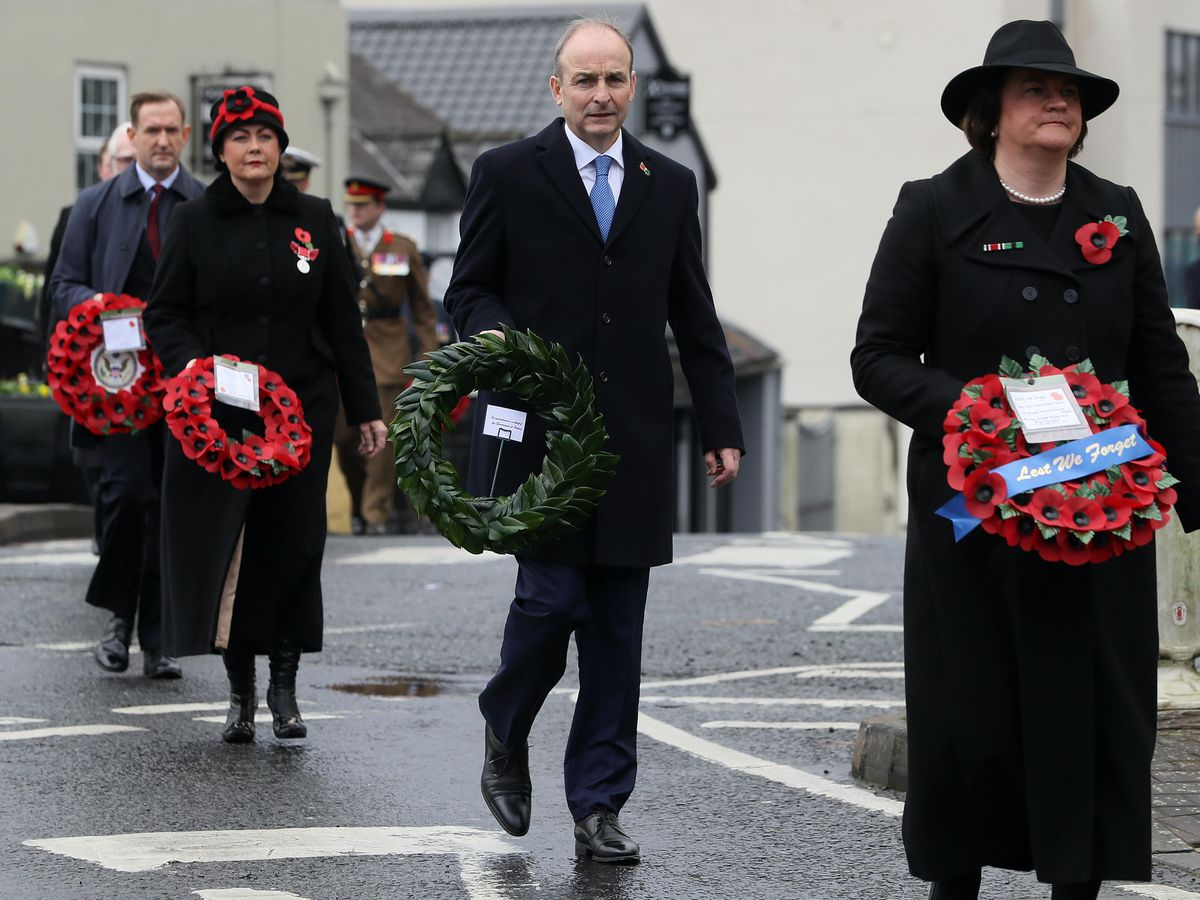 Micheal Martin at the memorial event