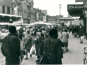 Shoppers in High Street
