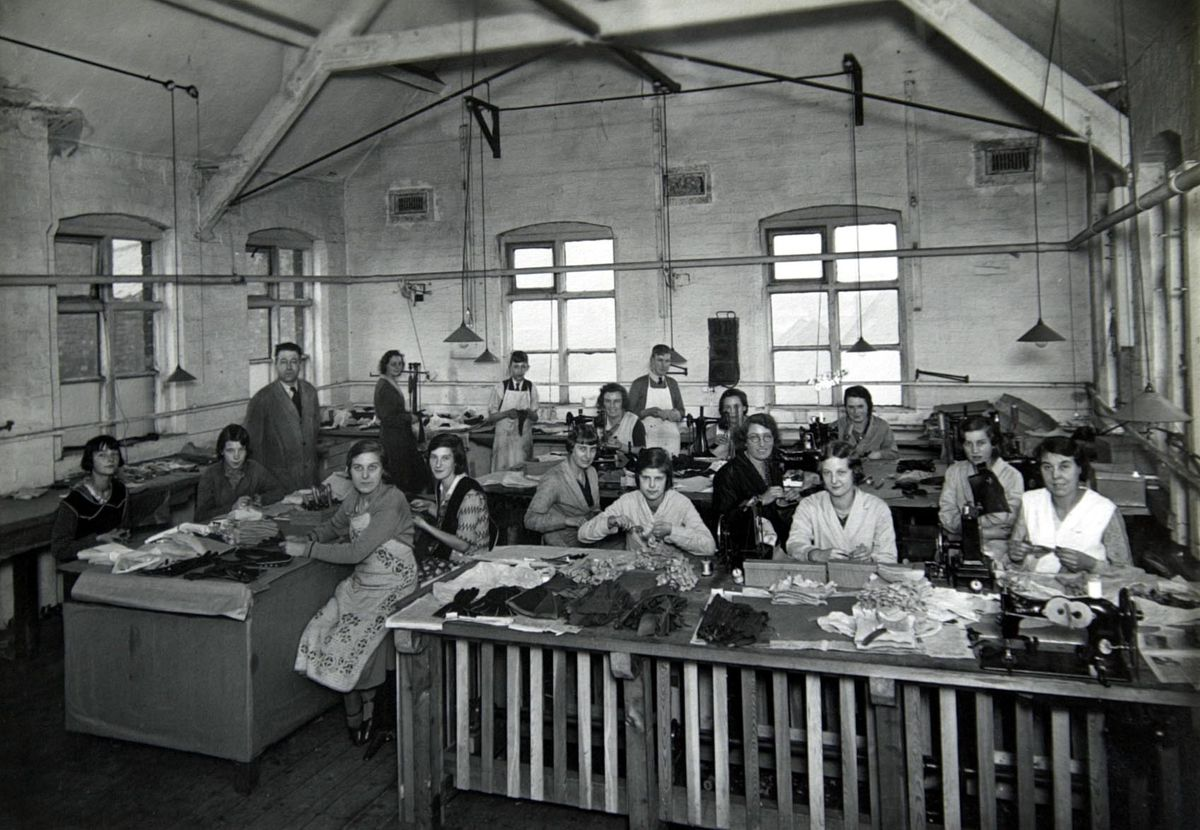 Walsall has a proud heritage of leather manufacturing – Crown leather works in the 1940s