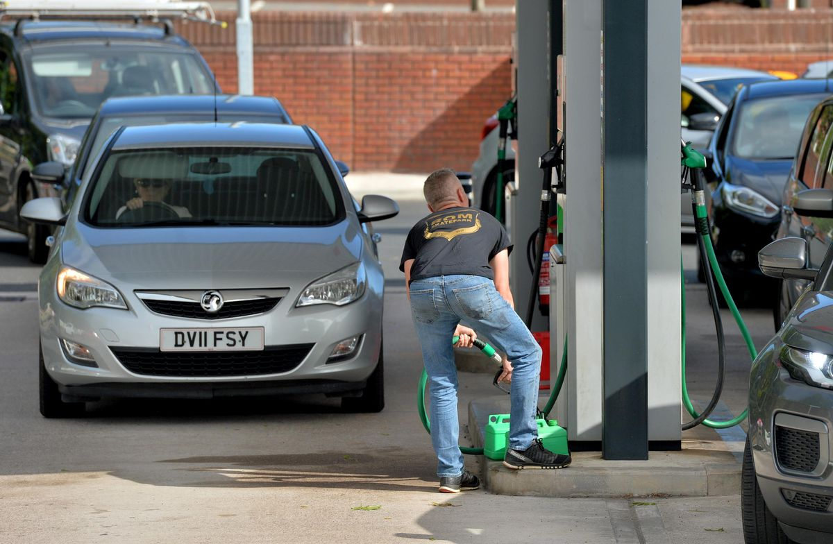 Some motorists are stock up with fuel in case supplies run dry