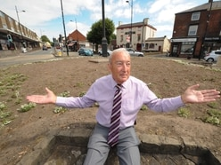 Disgust after Sedgley's Bull Ring island flower beds wrecked - WATCH