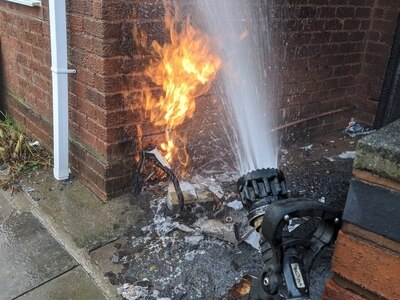Homes evacuated after wheelie bin fire sparks gas alert