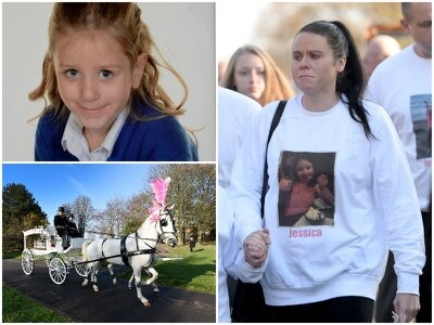'Bubbly and joyful': Tributes paid at heartbreaking funeral for young Jessica