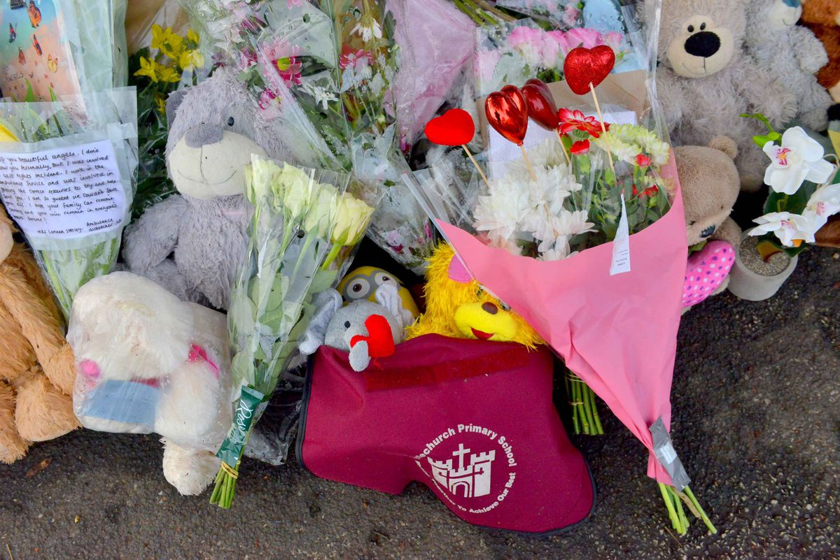 Flowers and toys left at the scene