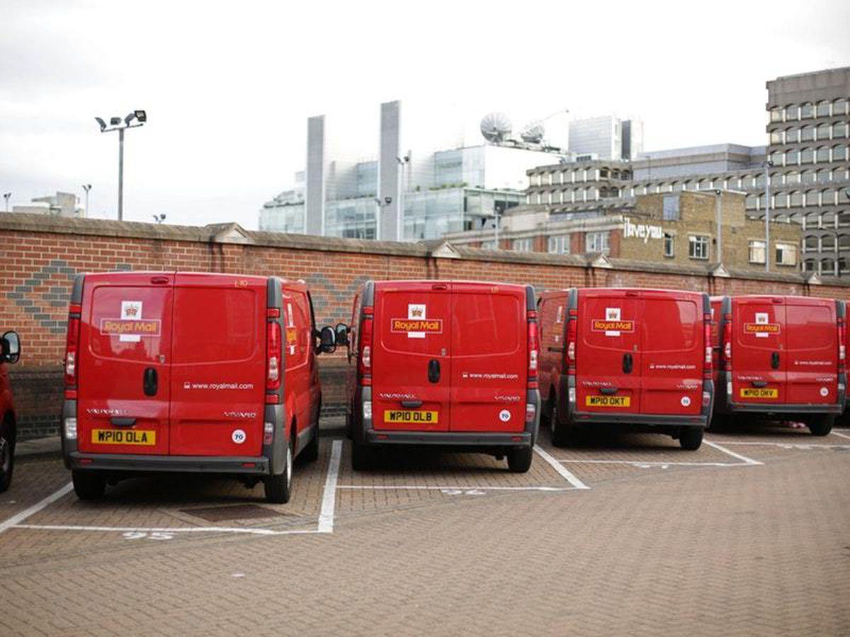 Royal Mail vans at depot