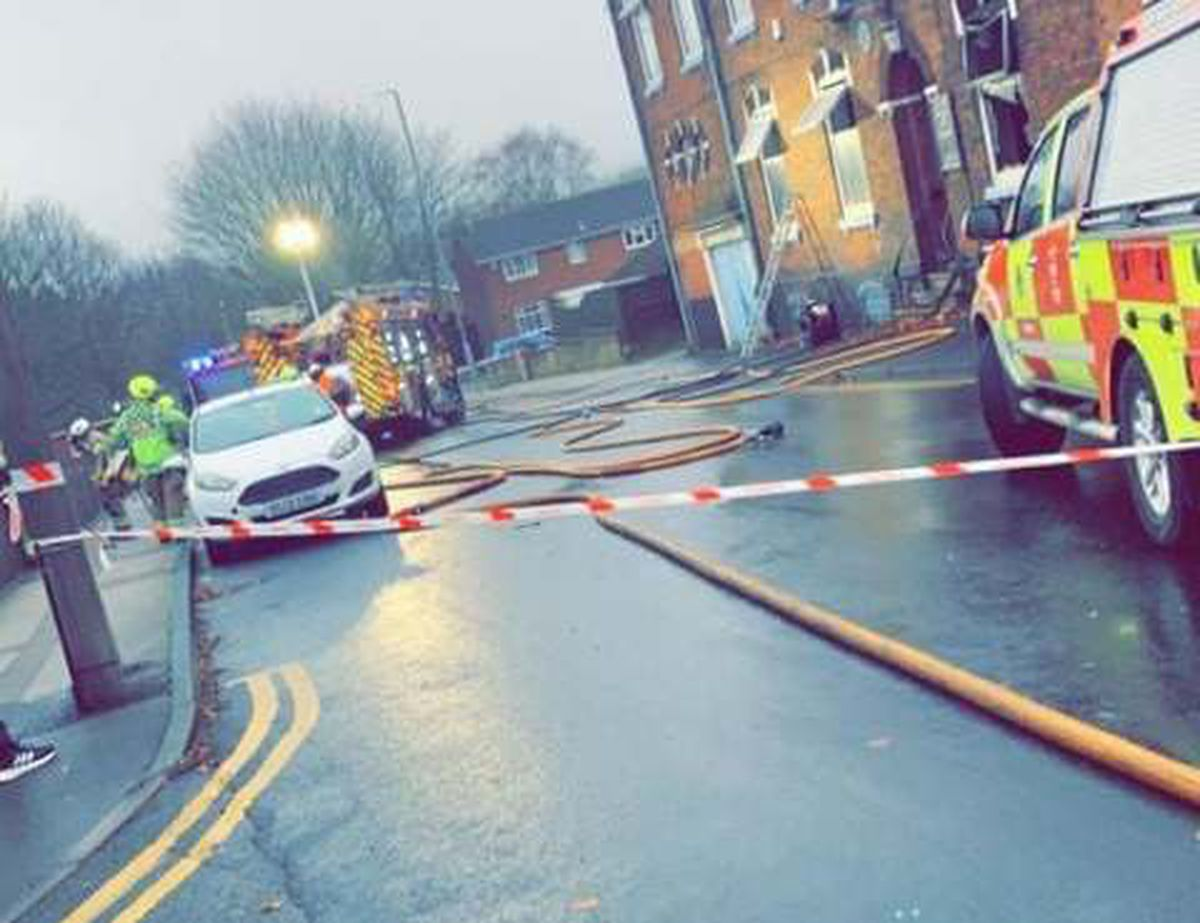 Fire breaks out at former Conservative club. Photo: Spotted Tipton