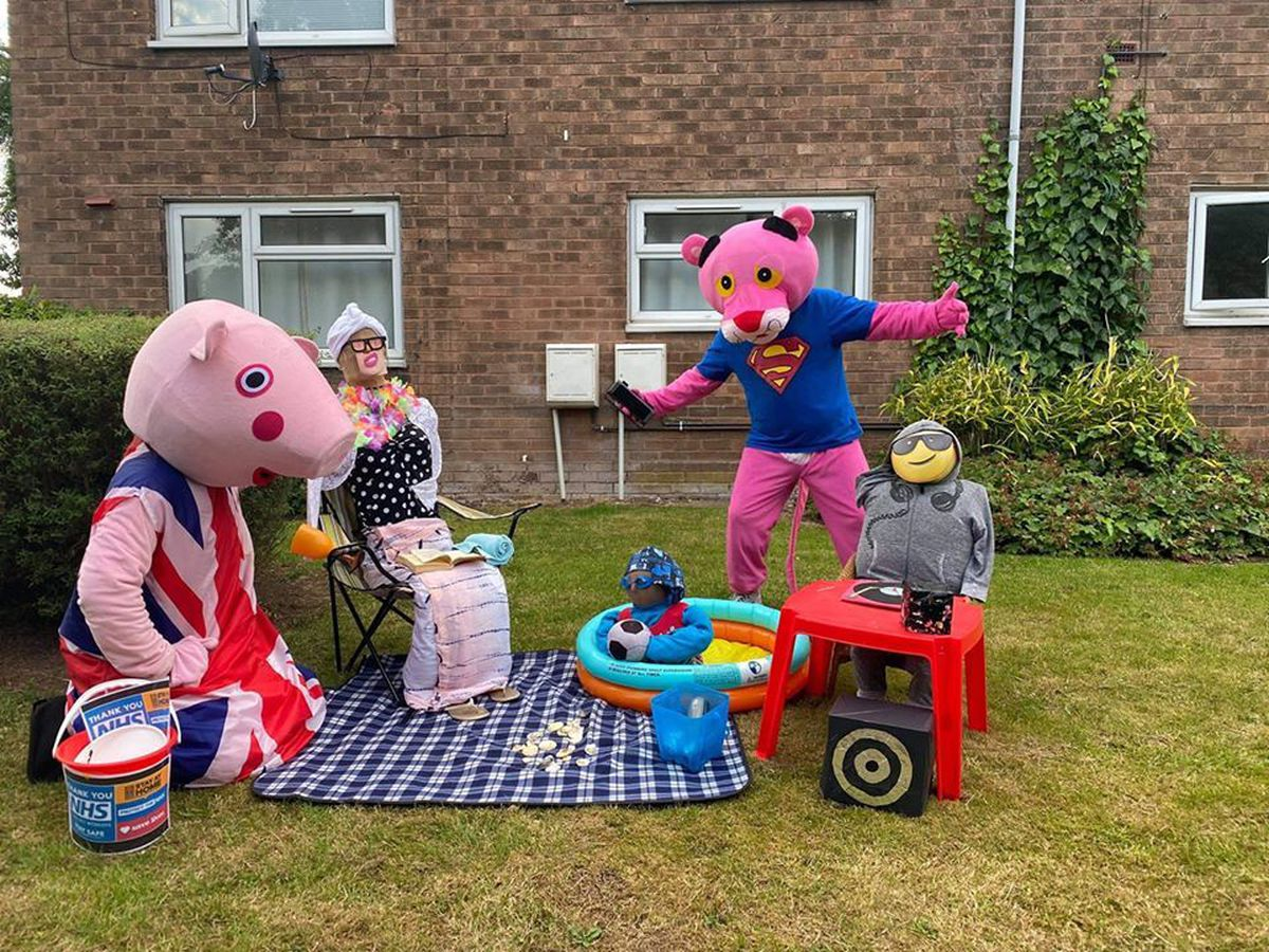 Residents of Codsall and Bilbrook have created more than 60 scarecrows as part of a charity competiton