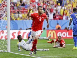 Switzerland's Haris Seferovic celebrates