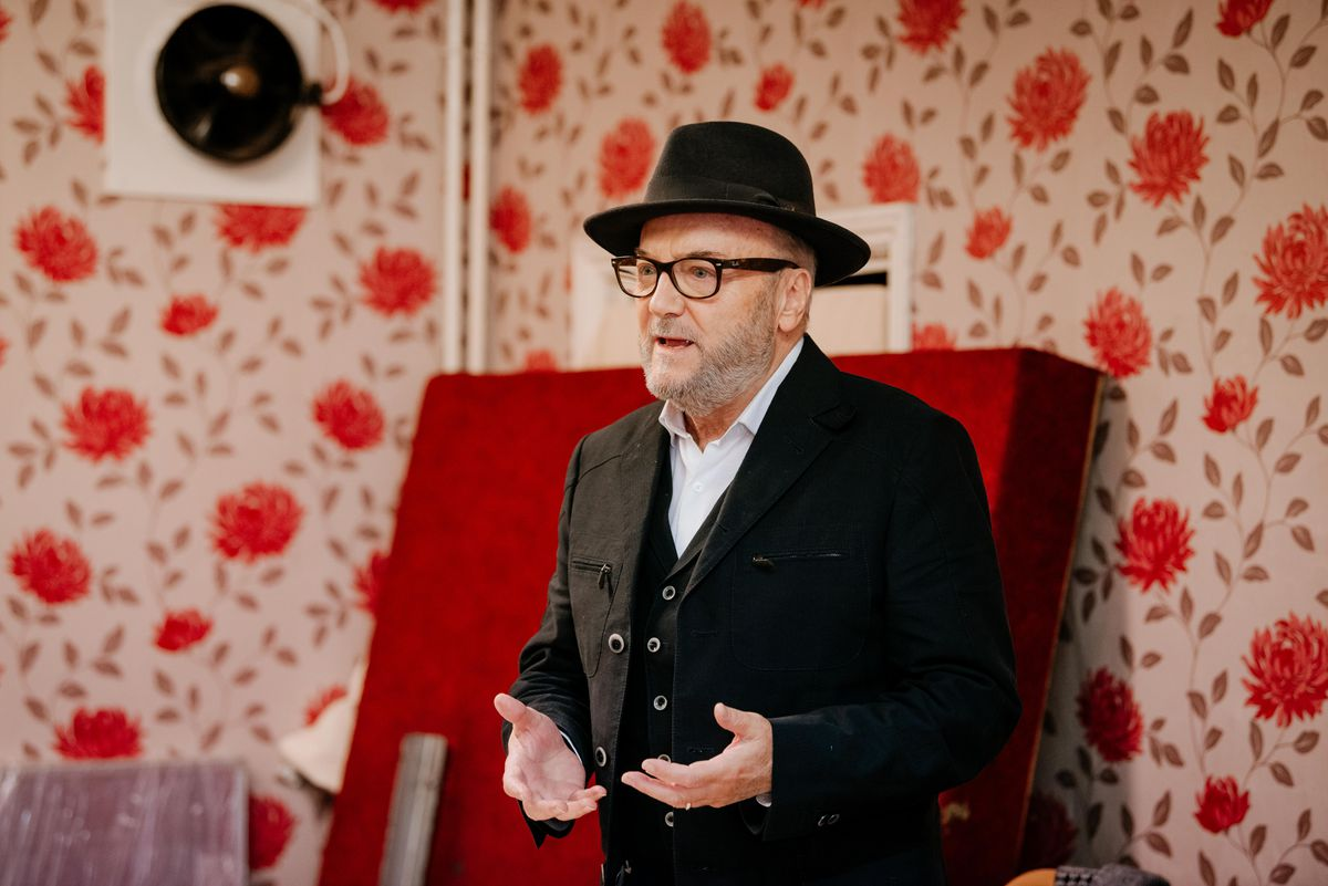George Galloway during a recent appearance at West Bromwich Mens' Social Club