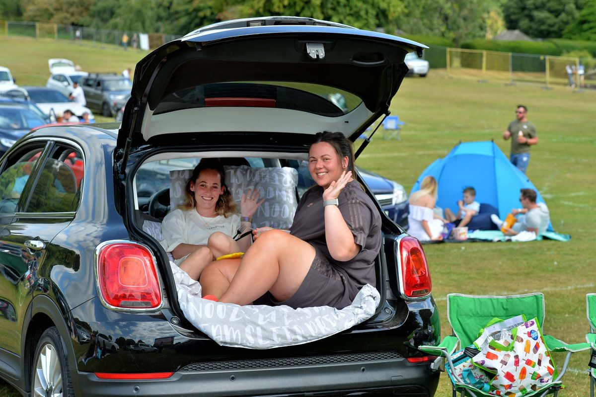 Lucy Dolman and Stacey Hodkiss find a more comfortable way to watch the film
