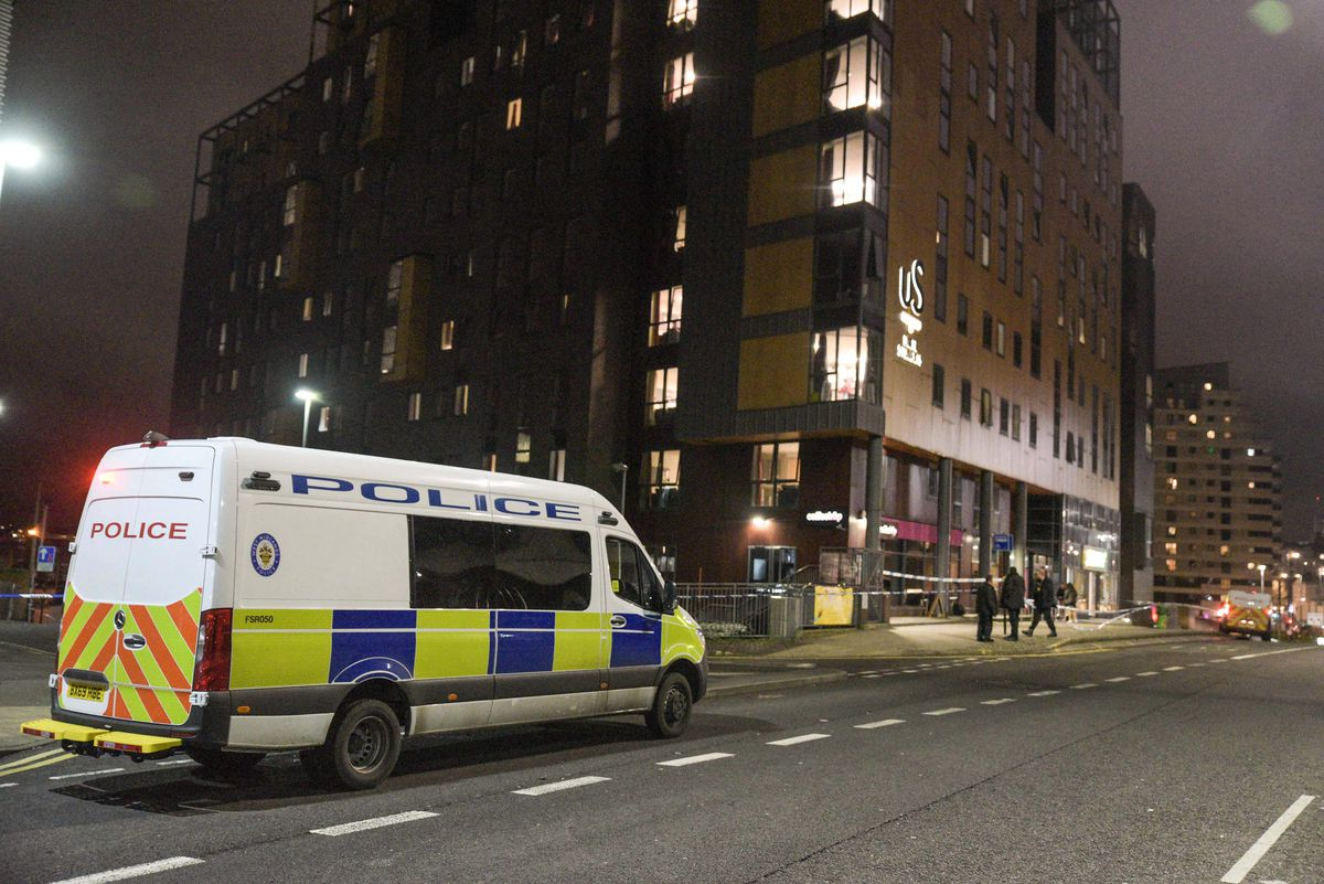 The scene in Birmingham city centre. Pic: @SnapperSK