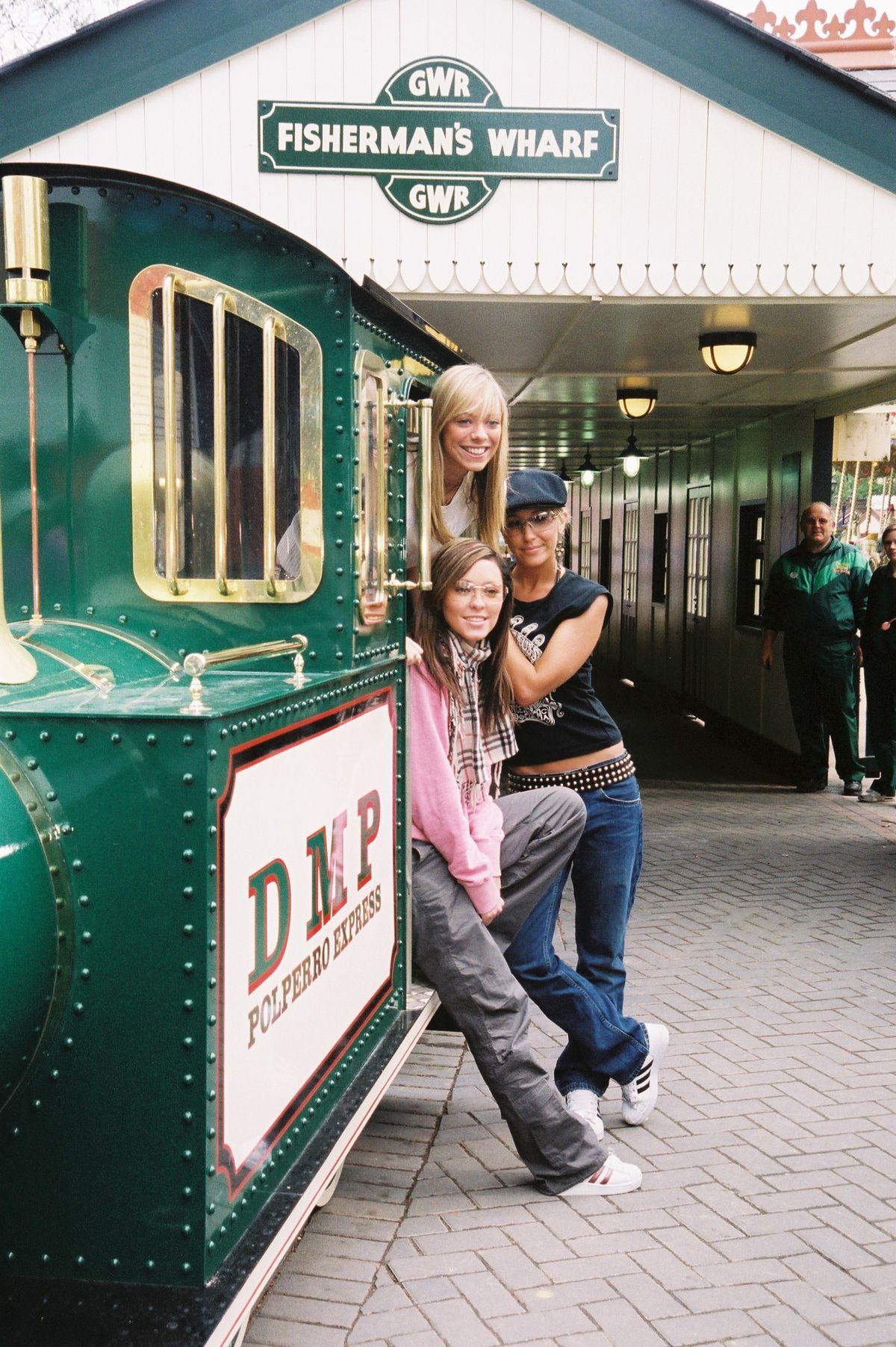 Atomic Kitten on the Polperro Express Steam Train in 2003