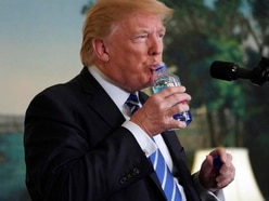Watch: Marco Rubio has the last laugh as Donald Trump suffers an awkward water moment