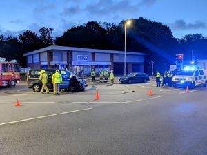 Haden Cross Fire station also helped to deal with a collision on Dudley Road (Image by Haden Cross Fire Station)