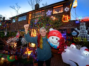 Terry Tapper from Lichfield Road, Rushall, and his fantastic Christmas lights display