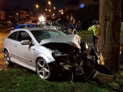 Teenagers taken to hospital as car crashes into tree in Brierley Hill