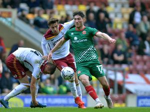 Jack Earing in action at Bradford