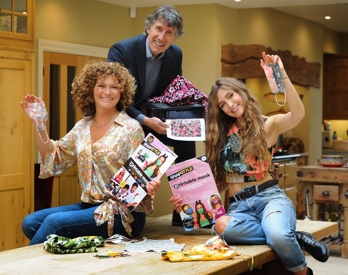 From left, Karen, Richard and Josie North – who have developed the idea for new masks that can be printed to match people's fashion, at their home in Bridgnorth. Richard is co-founder and CEO of Wow! Stuff, based in Wolverhampton