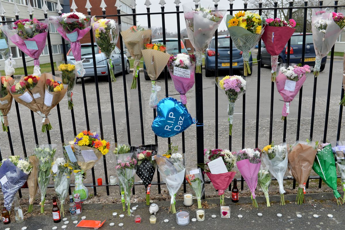 Tributes have been left at St Mark's Road