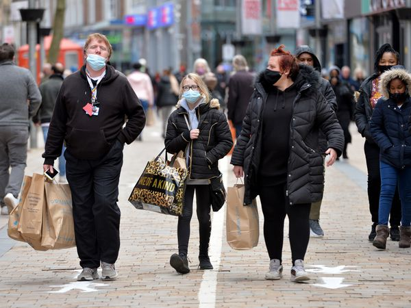Shoppers return to Dudley Street, Wolverhampton