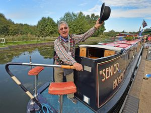 The return of the Brownhills Canal Festival which was last held in 2019. Oswald Cutayar aboard 'Senior moment'