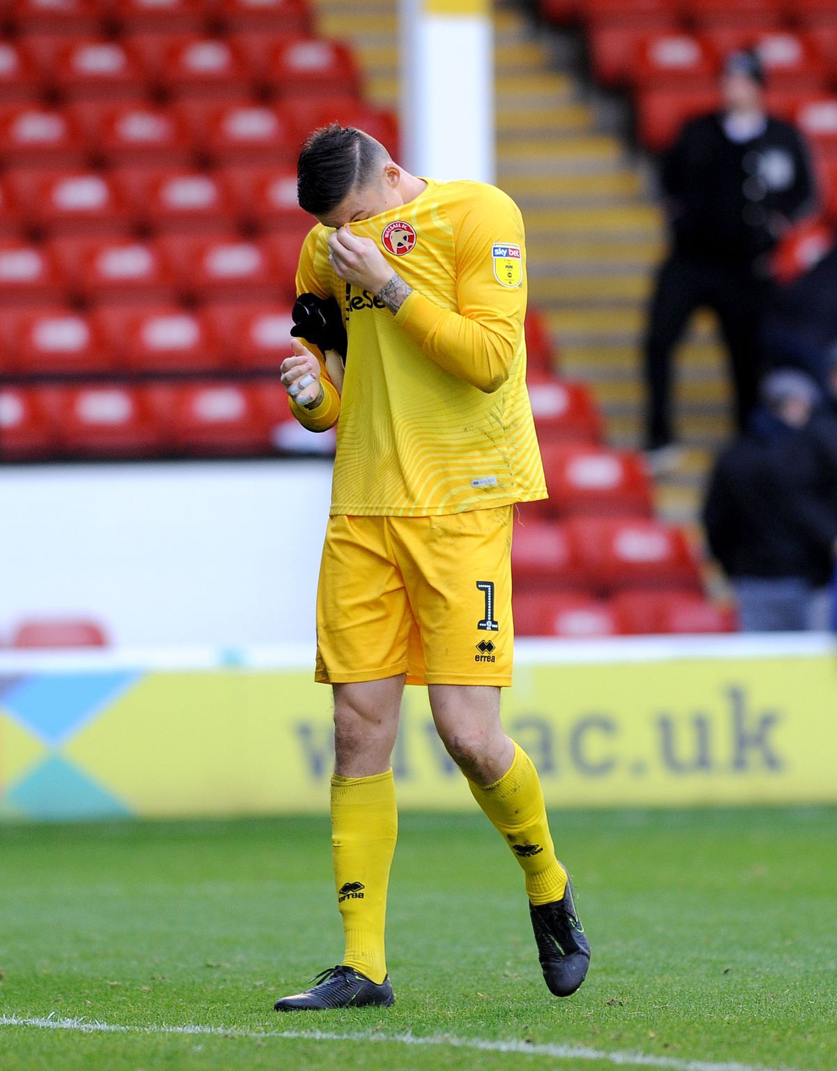 Liam Roberts devastated with the result at the final whistle