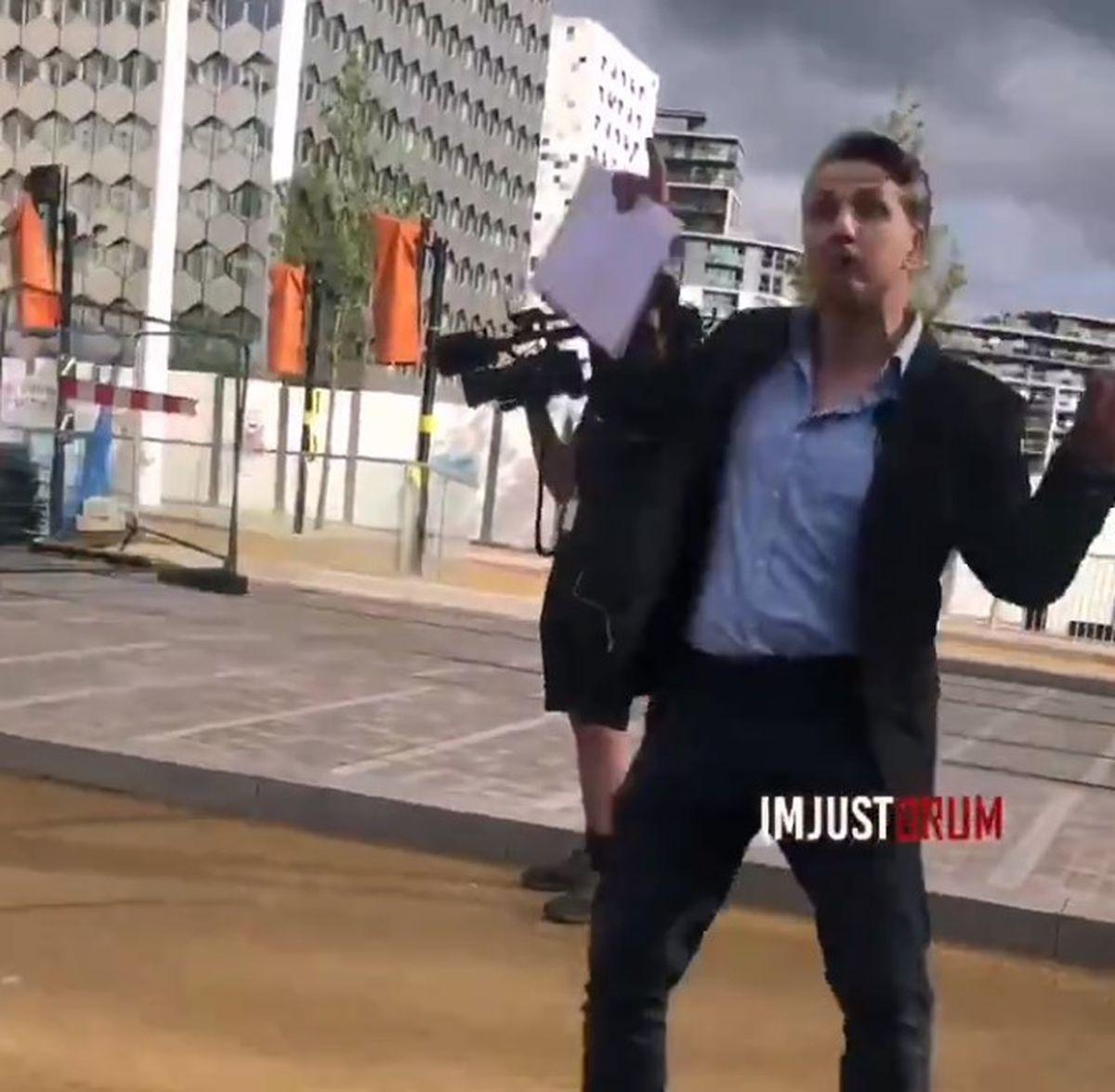 Footage was captured of ITV Central reporter Callum Watkinson. Photo: ImJustBrum
