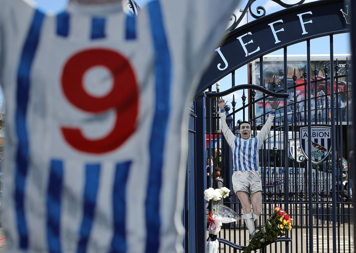 The Jeff Astle gates remain as a tribute on the East Stand entrance to The Hawthorns