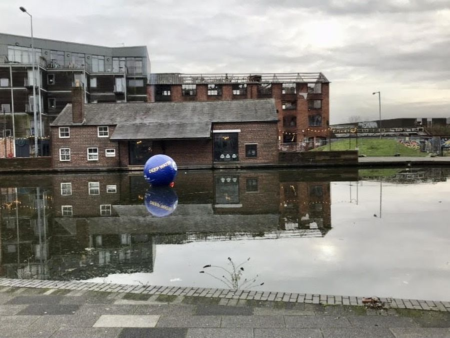 An inflatable buoy has been placed in Walsall Basin in a bid to stop people falling in