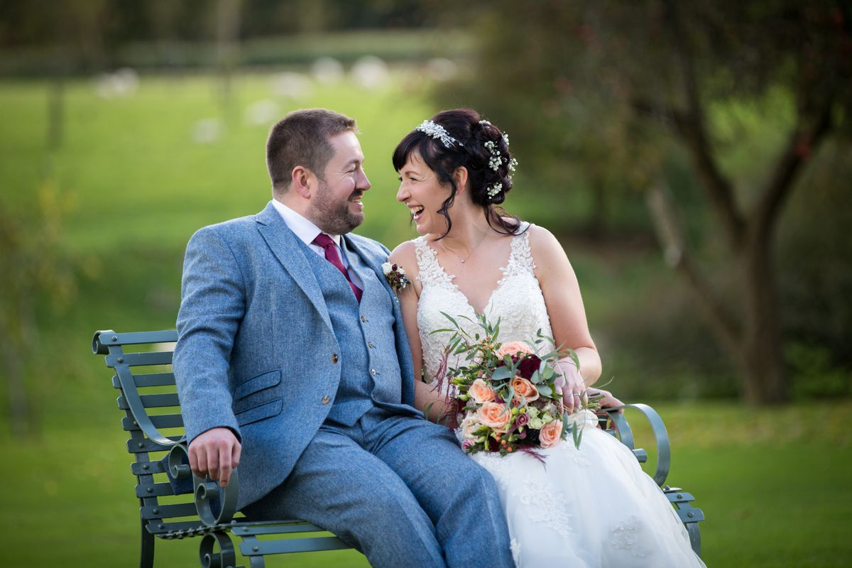 James and Penny on their wedding day