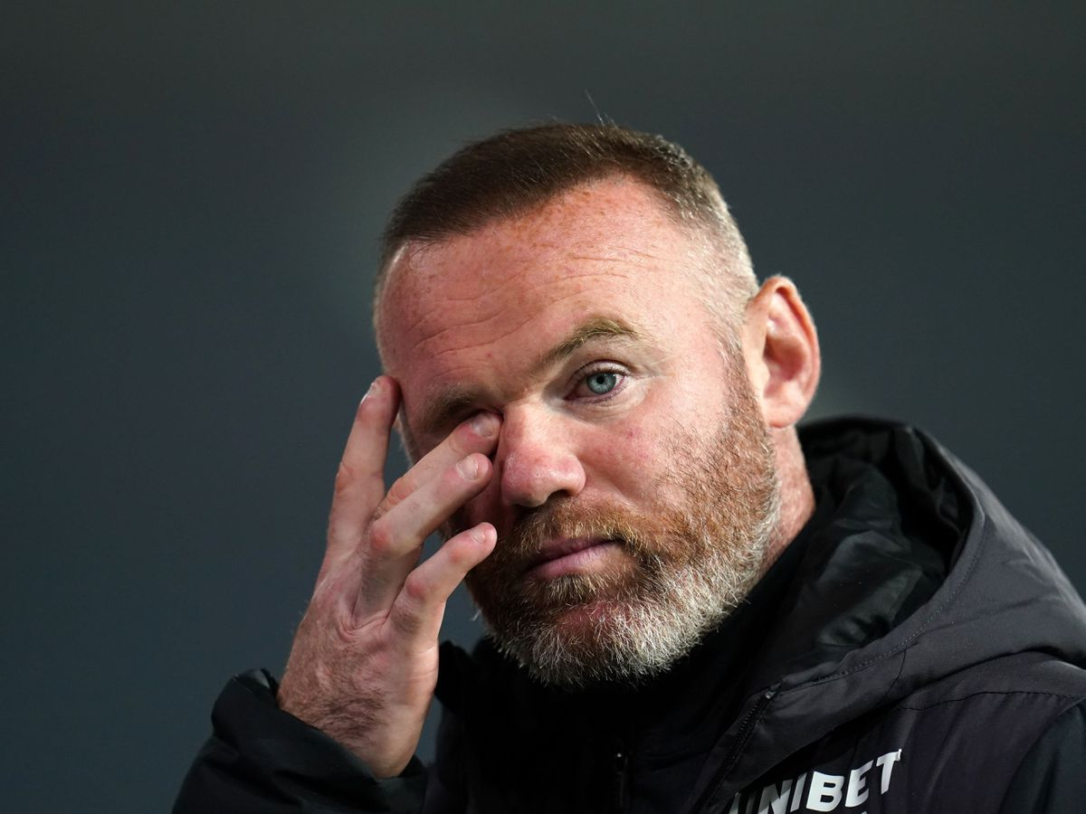Wayne Rooney found out Derby are set to enter administration on the television